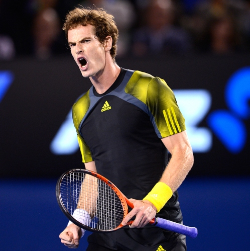 "Andy Murray defeats ""Fed.'  Shows maturity under coach Ivan Llendl. His resolve prevails."