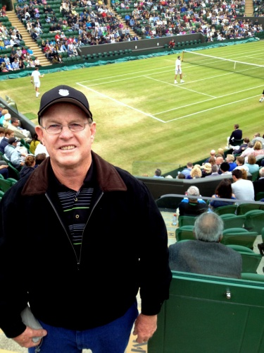 Des at the new Wimbledon Court 2 stadium