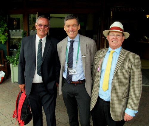 A great reunion at Wimbledon. Ant Michell, Colin Dowdeswell and Des Evans