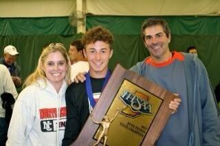 Proud parents Jane and Barry Kroot with their State Champion son JJ