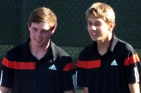 Patrick McAuley and Will Reifeis out of IRC won State doubles