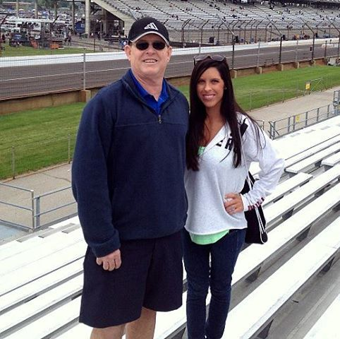 Des with Stace at the Indy 500 in May