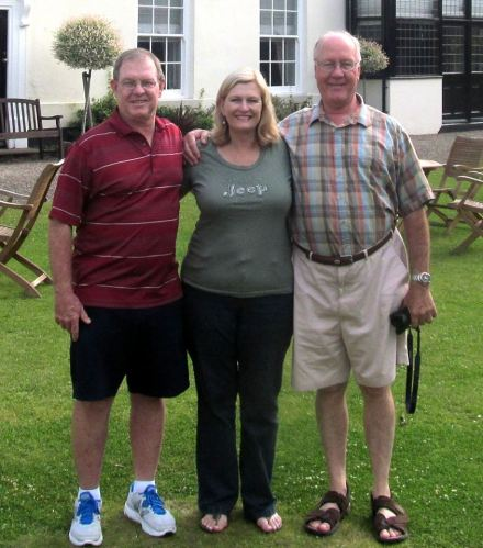 A wonderful reunion in Durham for Des, sister Lorna and brother Kev