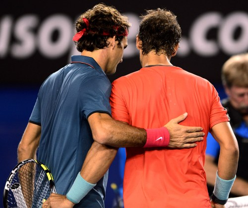 Fed congratulates Rafa after being out-played by Nadal