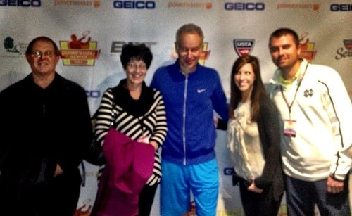 After the tennis with John McEnroe