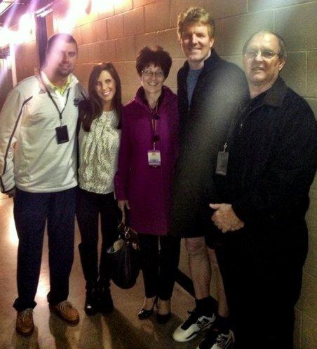 Meeting USA Davis Cup captain Jim Courier