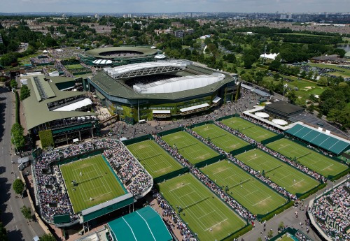 An aerial view of the hallowed ground which is Wimbledon