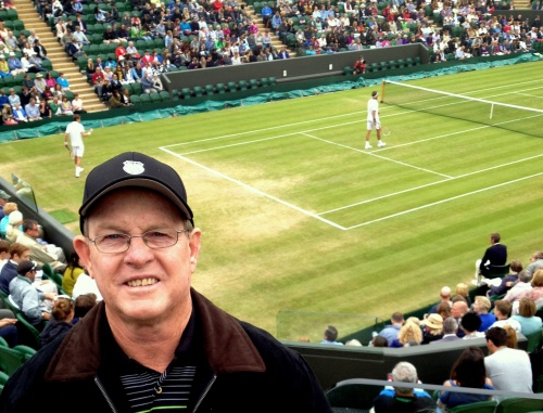 Des at the impressive new Wimbledon Court 2 stadium