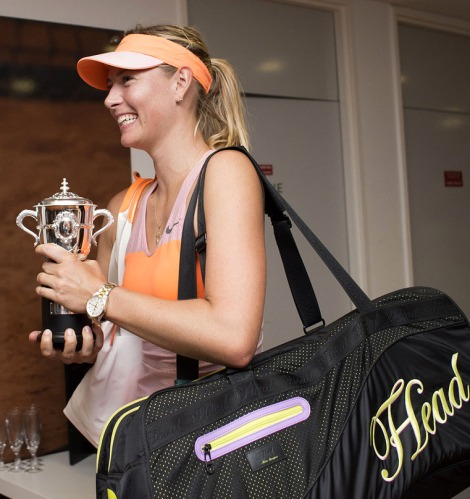 Sharapova captured her 6th Grand Slam title at the French