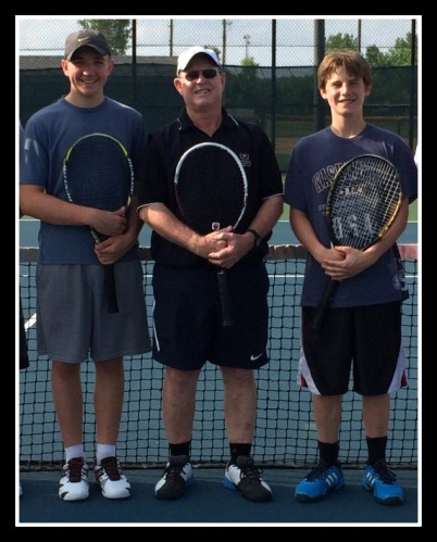 Coach Des with Sam Luke and Sam Keller