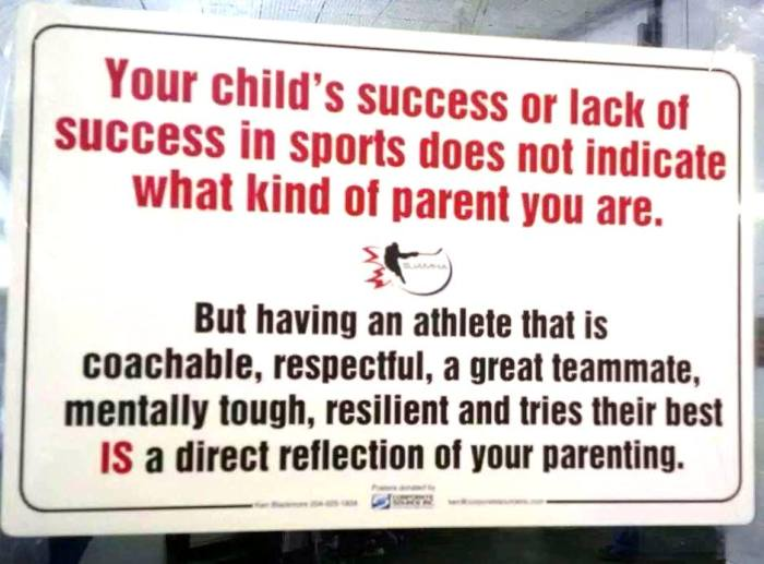 Image result for kids sport reflect on you as a parent