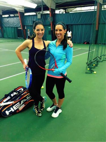 Nikki and Stacey both won State championships with Carmel Greyhounds and Nikki played 4 years college tennis for the Jags