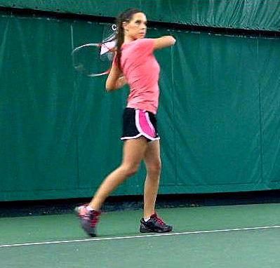 Stacey Evans reached the girls State doubles finals in 2006 - losing to Rebecca Porter and Melanie Sullivan of Center Grove