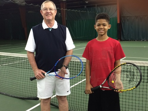 Sunday early risers - coach Des and Jonathan!