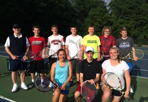 The high school group enjoying playing in great weather outdoors