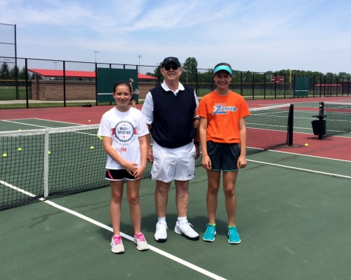Coach Des with Hadley and Devon at Clay