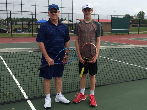 Coach Des with promising junior Matthew True at Clay