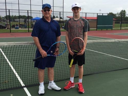 Coach Des with promising junior Matthew True at Clay