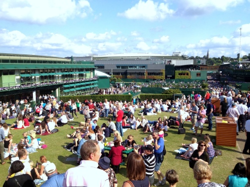Huge crowds watch the championships each day