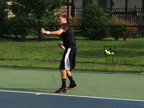 Grant Lamkin of Hamilton Heights working on the loading phase of the forehand