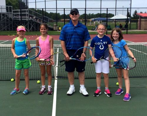A group of 10 and under girls had fun working with Coach Des this summer
