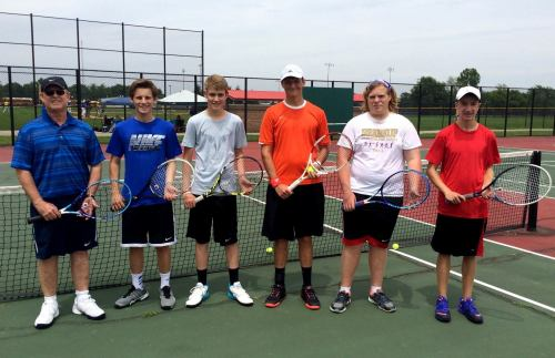 One of the high school boys groups working hard this summer at Clay