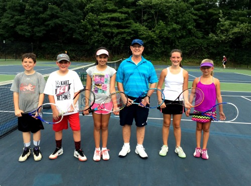 The middle school group with Coach Des during the final week