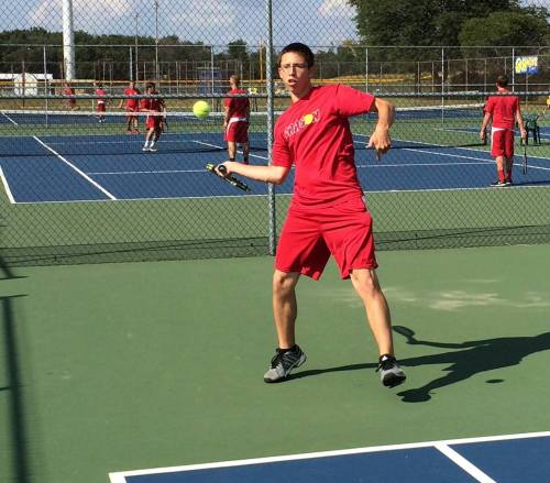 Nicholas Ochs has relied on the consistency of his ground stokes at No 3 Singles