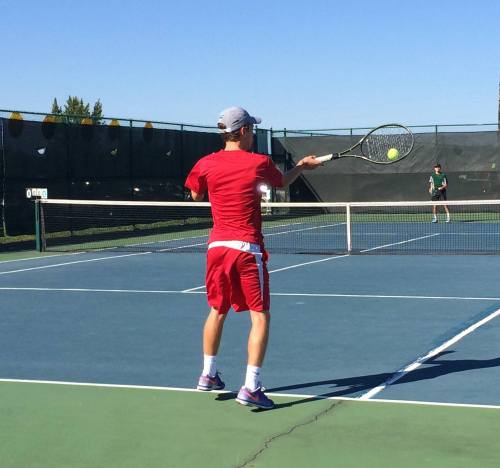 No 1 Singles Coltin Espich has improved his performance in recent weeks