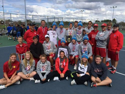 The Dragon Varsity, J.V. teams and our lady Managers at the County Championship