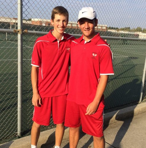 Sophomore David Hockett and Senior Conner Page played at No 2 doubles