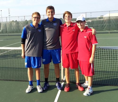 Dragon seniors Josh McKinney and Evan