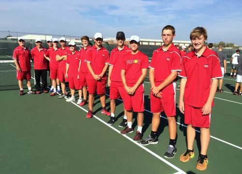 The Dragons players during introductions at the Regionals at North Central